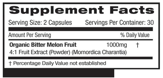 Fruitrients Bitter Melon Supplement Facts