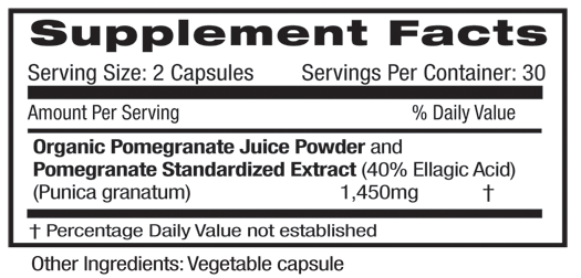 Fruitrients Pomegranate Supplement Facts